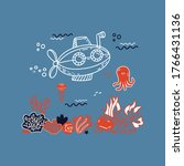 illustration in hand drawn... | Shutterstock .eps vector #1766431136