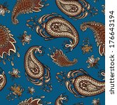 colorful paisley seamless | Shutterstock .eps vector #176643194