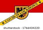 dortmund lockdown preventing... | Shutterstock .eps vector #1766434220