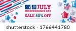 4th of july sale poster or... | Shutterstock .eps vector #1766441780