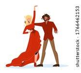 Woman And Man Dancers Dancing...