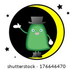 monster to guide riding on the... | Shutterstock .eps vector #176646470