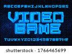 video game alphabet font.... | Shutterstock .eps vector #1766465699