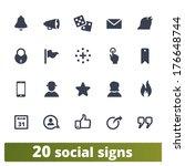 social signs  vector icons set...   Shutterstock .eps vector #176648744