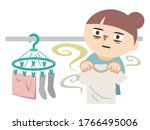 woman stunned by the stench of... | Shutterstock .eps vector #1766495006