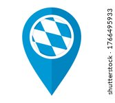 flat map marker icon with... | Shutterstock .eps vector #1766495933