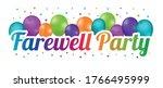 farewell party banner  ... | Shutterstock .eps vector #1766495999