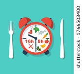 periodic fasting. protocol...   Shutterstock .eps vector #1766503400