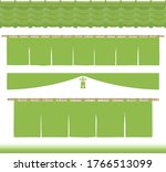 set of green tea illustrations. ... | Shutterstock .eps vector #1766513099