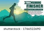 running silhouettes. vector...   Shutterstock .eps vector #1766522690