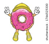 vector illustration with donut... | Shutterstock .eps vector #1766525330