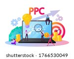 pay per click concept. tiny... | Shutterstock .eps vector #1766530049