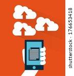 cloud computing over  orange... | Shutterstock .eps vector #176653418