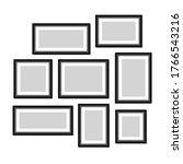 framework set icons. graphic... | Shutterstock .eps vector #1766543216