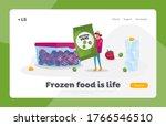 healthy food  iced vegetables ... | Shutterstock .eps vector #1766546510