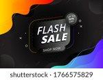 flash sale discount banner... | Shutterstock .eps vector #1766575829