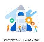 group of people develop... | Shutterstock .eps vector #1766577500