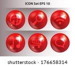 set icons | Shutterstock .eps vector #176658314