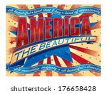 america the beautiful banner | Shutterstock .eps vector #176658428
