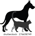 cat and dog | Shutterstock .eps vector #176658749