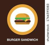 hamburger sign icon. flat... | Shutterstock .eps vector #1766595083