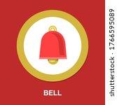 alarm sign. clock bell icon.... | Shutterstock .eps vector #1766595089