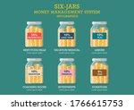 jars money management system....   Shutterstock .eps vector #1766615753
