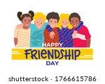 happy friendship day web banner ...   Shutterstock .eps vector #1766615786