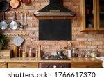 mock up of chalkboard in... | Shutterstock . vector #1766617370