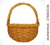 realistic wicker basket... | Shutterstock .eps vector #176662136
