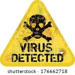 computer virus alert  grungy...   Shutterstock .eps vector #176662718