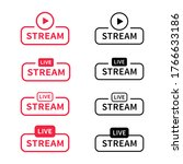 live stream vector banner sign. ...