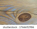 Wood Texture With A Knot. Pine...