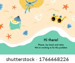 error web page with vacation on ...   Shutterstock .eps vector #1766668226