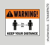 vector warning sign for social... | Shutterstock .eps vector #1766689670