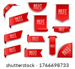best price red vector banners... | Shutterstock .eps vector #1766698733