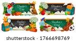 teacher day  vector chalkboard...   Shutterstock .eps vector #1766698769