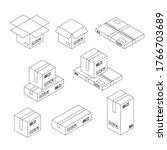 Outline Vector Illustration Of...