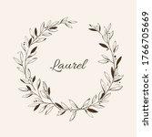 laurel wreath. vector design...   Shutterstock .eps vector #1766705669