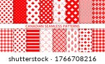 canada seamless pattern. vector.... | Shutterstock .eps vector #1766708216