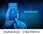 download data storage. cloud... | Shutterstock .eps vector #1766708723