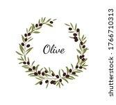 olive wreath. vector design... | Shutterstock .eps vector #1766710313