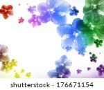 flowers on a white background...   Shutterstock . vector #176671154