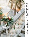 Bridal Bouquet Of White Peonie...