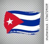 flag of cuba from brush strokes....