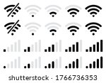 wi fi wireless icon collection... | Shutterstock .eps vector #1766736353