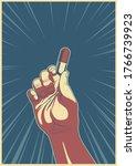 Hand And Pill Retro Propaganda...