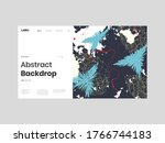 abstract homepage illustration. ... | Shutterstock .eps vector #1766744183