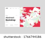 abstract homepage illustration. ... | Shutterstock .eps vector #1766744186