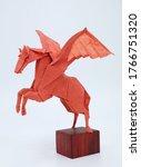 Origami Pegasus Rice Paper Red...